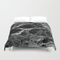 marble Duvet Covers featuring Marble by Three of the Possessed