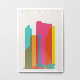 Shapes of Calgary Metal Print