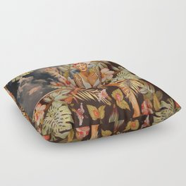 Swimming in the jungle Floor Pillow