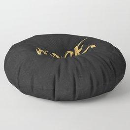 NOPE Copper Gold on Black Floor Pillow