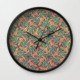Escape Pattern Wall Clock