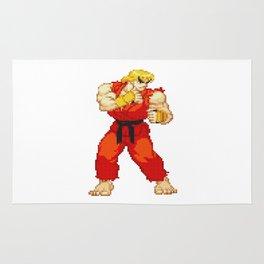 Ken Masters Pixel Art Rug