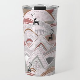 caribou mountains sienna Travel Mug