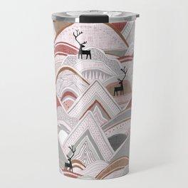 caribou mountains sienna Travel Mug