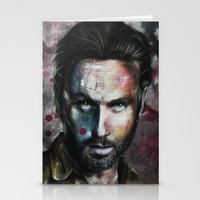 rick grimes Stationery Cards featuring Rick Grimes by Jhaiku