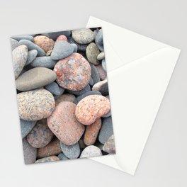 Watercolor Rock, Pebbles 05, Cape Breton, Nova Scotia, Canada, No Worries Here Stationery Cards