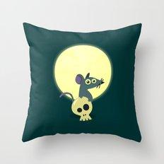 Moon Rat Throw Pillow