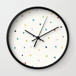 Cute Confetti Pattern Wall Clock