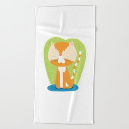 Tommy The Cat Beach Towel