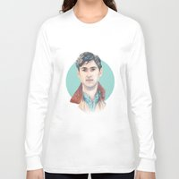 vampire weekend Long Sleeve T-shirts featuring Ezra Koenig, Vampire Weekend by Megan Diño