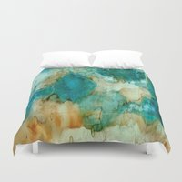 waterfall Duvet Covers featuring Waterfall by Rosie Brown