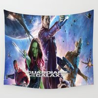 guardians Wall Tapestries featuring guardians of the galaxy by store2u