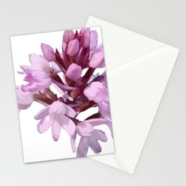 Pink Orchid Wildflower Stationery Cards