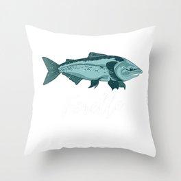 Fisherman Angler Trout Fishing Gift Throw Pillow
