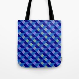 Geometric Marquetry With Variegated Marbled Colors Tote Bag