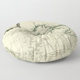 Map of the Great Lakes Region, North America (1784) Floor Pillow