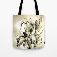 iris Tote Bags featuring Iris by Suzanne Kurilla