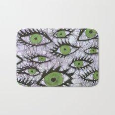 green eyes batik Bath Mat