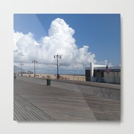Billowing Boardwalk Metal Print