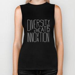 Diversity creates innovation Biker Tank