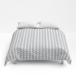 Light gray knitted pattern Comforters