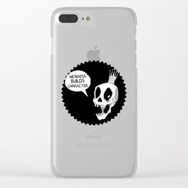 Skull King Clear iPhone Case