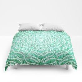 Cracked water mandala Comforters