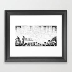 Dubaï Framed Art Print