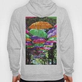 Rainbow Umbrellas Hoody