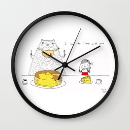 I love the time with you Wall Clock
