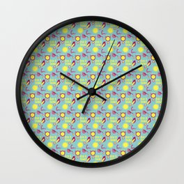 Early Bird Pattern by Holly Shropshire Wall Clock