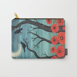 crows, fireflies, and poppies in the moonlight Carry-All Pouch