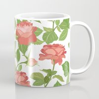 roses Mugs featuring Roses by Julia Badeeva