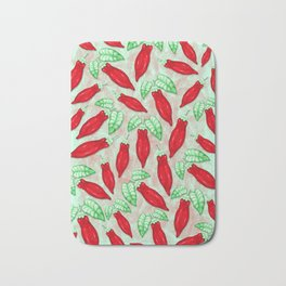 Red Hot Chilli Pepper Decorative Food Art Bath Mat