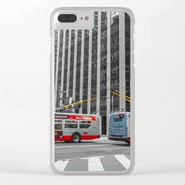 Buses Clear iPhone Case