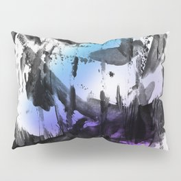 Thick Bold Black Ink Abstract Expressionism Pillow Sham