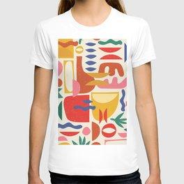 Mid Century Summer Abstraction Pattern T-shirt