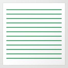 Kelly Green Breton Stripes Kunstdrucke