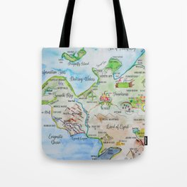 Map of the Faerie Realm Tote Bag