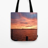 florida Tote Bags featuring Florida Sunset by minx267