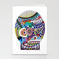 john snow Stationery Cards featuring Snow Globe by JOHN RUSSELL ABSTRACTS
