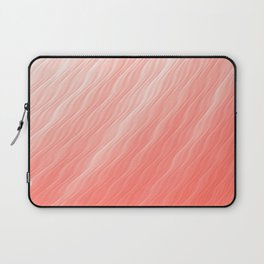 Living Coral Wavy Ombre Pattern Laptop Sleeve