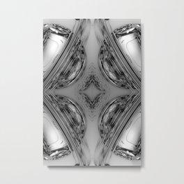 Florid Circles B&W Metal Print