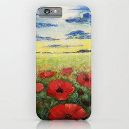 Colourful poppies iPhone Case
