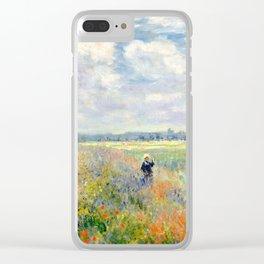 Poppy Fields near Argenteuil by Claude Monet Clear iPhone Case