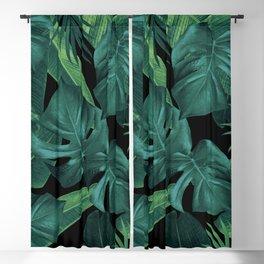 Tropical Summer Night Jungle Leaves Dream #1 #tropical #decor #art #society6 Blackout Curtain