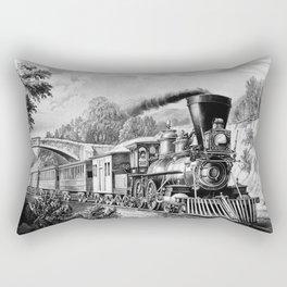 The Express Train 1870 Rectangular Pillow