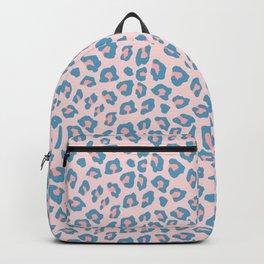 Leopard Print - Peachy Blue Backpack