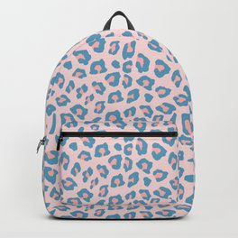 Leopard Print - Peachy Blue Backpack