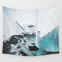 glitch Wall Tapestries featuring Glitch by SUBLIMENATION